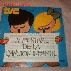 Discos de vinilo: DISCO SINGLE- ISABEL- IV FESTIVAL DE LA CANCION INFANTIL T.V.AÑO 1970.. Lote 500320