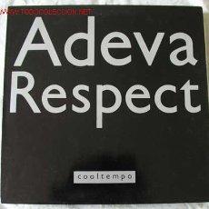 Discos de vinilo: ADEVA (RESPECT) MAXISINGLE 45. Lote 538391