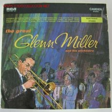 Discos de vinilo: THE GREAT GLENN MILLER AND HIS ORCHESTRA GERMANY LP33 RCA RECORDS. Lote 10837476