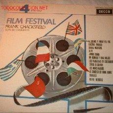 Discos de vinilo: DISCO LP 33 R.P.M. FILM FESTIVAL FRANK CHACKSFIELD CON SU ORQUESTA. AÑO 1969.. Lote 566333