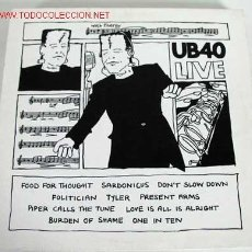 Discos de vinilo: UB40 (LIVE) 1983 LP33. Lote 633323