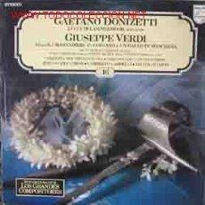 Discos de vinilo: GAETANO DONIZETTI - GIUSEPPE VERDI. Lote 21179231