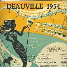 Discos de vinilo: FESTIVAL DEAUVILLE 1954.LOS PREMIOS DE LA CANCION FRANCESA MEA CULPA, LOS NIÑOS DE PARIS, PARI. Lote 24306074