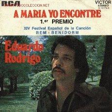 Discos de vinilo: EDUARDO RODRIGO. Lote 2294971