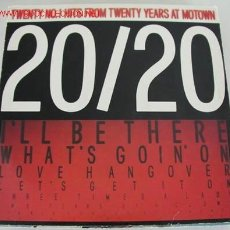 Discos de vinilo: 20/20 TWENTY Nº1 HITS (THE JACKSON 5, MARVIN GAYE,THE TEMPTATIONS,DIANA ROSS,COMMODORES) LP33 DOBLE. Lote 673386