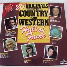 Discos de vinilo: 20 ORIGINALS FROM YHE COUNTRY AND WESTERN HALL OF FAME (VARIOS) LP33. Lote 674403