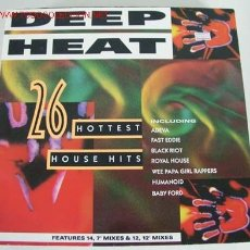 Discos de vinilo: DEEP HEAT (26 HOTTEST HOUSE HITS) LP33 DOBLE. Lote 10822258