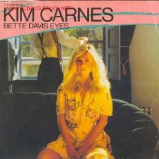 Disques de vinyle: KIM CARNES / - BETTE DAVIS EYES - / EDIT. EN FRANCIA 1981. Lote 16270494