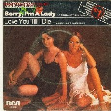 Discos de vinilo: BACCARA - RCA,1972-SORRY, I'M LADY / LOVE YOU TILL I DIE. Lote 26962293
