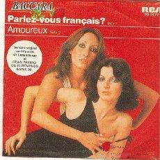 Discos de vinilo: BACCARA - RCA,1970 - PARLEZ VOUS FRANCAIS? / AMOREUX. Lote 26962290