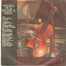 Discos de vinilo: HISTORIA DE LA MUSICA ,CODEX. Lote 1162308