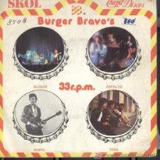 Discos de vinilo: BURGER BRAVO´S-BLOQUE + ASFALTO + MORIS + TOPO EP VINILO ZAFIRO EN 1979 PROMOCIONAL EX-EX. Lote 3130847