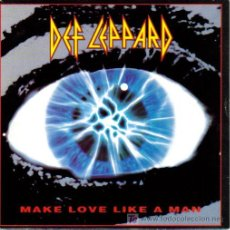 Discos de vinilo: DEF LEPPARD-MAKE LOVE LIKE A MAN + MISS YOU IN A HEARTBEAT SINGLE VINILO PHONOGRAM EN 1992. Lote 3146746