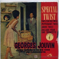 Discos de vinilo: GEORGES JOUVIN / TWISTIN' THE TWIST / PEPPERMINTI TWIST / BALLADE POUR UNE TRMPETTE / AMEN TWIST. Lote 3166200