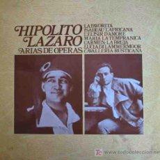 Discos de vinilo: HIPOLITO LAZARO : ARIAS DE OPERAS. COLUMBIA C7538. 1972. Lote 3208327