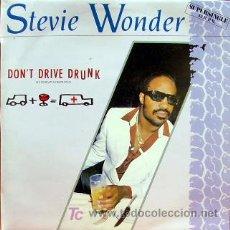 Discos de vinilo: STEVIE WONDER-DON´T DRIVE DRUNK MAXI SINGLE VINILO PROMOCIONAL EDITADO POR MOTOWN EN 1984. Lote 3212778