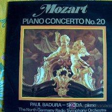 Discos de vinilo: MOZART-PIANO CONCERTO N. 20 - PAUL BADURA SKODA-PIANO. Lote 3246457