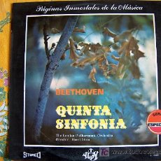 Discos de vinilo: BEETHOVEN-QUINTA SINFONIA-THE LONDON PHILHARMONIC ORCHESTRA-DR. HORST STEIN. Lote 3246509
