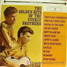 Discos de vinilo: THE EVERLY BROTHERS - THE GOLDEN HITS OF LP EDITADO EN USA RARO. Lote 3269684