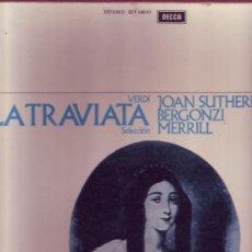 Discos de vinilo: VERDI LA TRAVIATA CAJA CON 3 LP Y LIBRETO EN. Lote 26007879