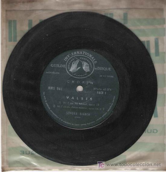 CHOPIN - VALSES / SONDRA BIANCA PIANO (Música - Discos - Singles Vinilo - Clásica, Ópera, Zarzuela y Marchas)
