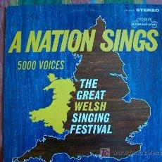 Disques de vinyle: LP - A NATION SINGS FIVE THOUSAND VOICES-DR. TERRY JAMES-ORGNIST, CYRIL ANTHONY. Lote 8725678