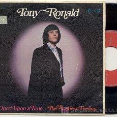 Discos de vinilo: SINGLE 45 RPM / TONY RONALD / ONCE UPON A TIME // EDITADO POR MOVIEPLAY 1969 // DISCO COMO NUEVO . Lote 18297561