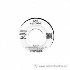 Discos de vinilo: FACTORY ··· AVENTURA SINGULAR - (SINGLE 45 RPM). Lote 27168727
