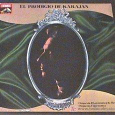 Discos de vinilo: ANTIGUO DISCO DE VINILO EL PRODIJIO DE KARAJAN - ORQUESTA FILARMONICA DE BERLIN - ED. LA VOZ DE SU A. Lote 20711206