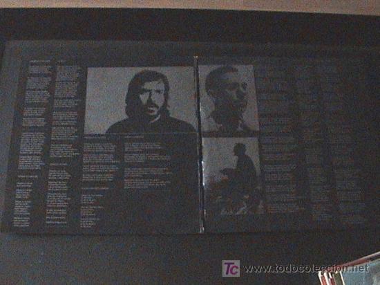 Discos de vinilo: DISCO DE VINLO DE LP PORTADA DOBLE 33 RPM / JOAN MANUEL SERRAT / MIGUEL HERNANDEZ - Editado por NOVO - Foto 2 - 27294294