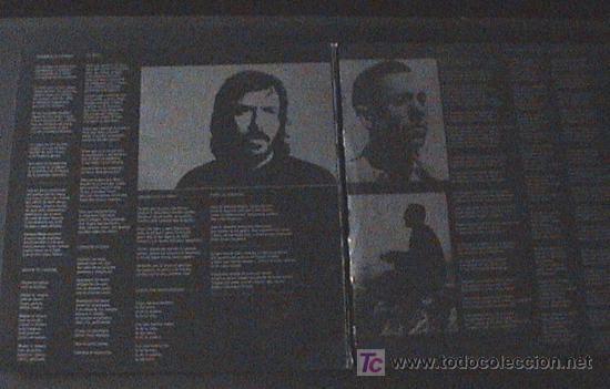 Discos de vinilo: DISCO DE VINLO DE LP PORTADA DOBLE 33 RPM / JOAN MANUEL SERRAT / MIGUEL HERNANDEZ - Editado por NOVO - Foto 3 - 27294294