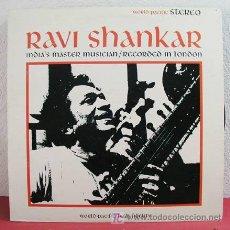 Discos de vinilo: RAVI SHANKAR ( INDIA'S MASTER MUSICIAN / RECORDED IN LONDON ) USA LP33. Lote 3355339