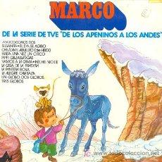 Discos de vinilo: MARCO, DE LA SERIE DE TVE DE LOS APENINOS A LOS ANDES. LP DEL SELLO DIAL DEL AÑO 1977 XXX. Lote 27209220