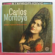Discos de vinilo: CARLOS MONTOYA PLAYS LATIN FAVORITES (MALAGUEÑA, BOLERO, CHUFLA, ALEGRIA, FARIUCA...) USA LP33. Lote 3395107