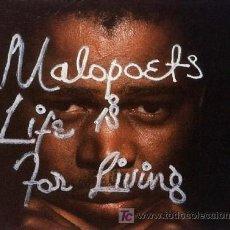 Discos de vinilo: MALOPOETS ··· LIFE IS FOR LIVING · (LP 33 RPM) ··· NUEVO. Lote 20330791