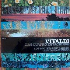 Discos de vinilo: VIVALDI - LAS CUATRO ESTACIONES - LOS SOLISTAS DE ZAGREB- DR. ANTONIO JANIGRO. Lote 3440378