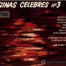 Discos de vinilo: FRANCK POURCEL Y SU GRAN ORQUESTA ··· PAGINAS CELEBRES Nº 3 - (LP 33 RPM). Lote 20477445