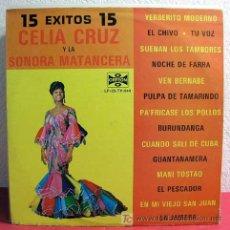 Discos de vinilo: CELIA CRUZ Y LA SONORA MATANCERA ( 15 EXITOS CELIA CRUZ ) MEXICO-1983 LP33. Lote 3517025