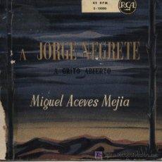 Discos de vinilo: MIGUEL ACEVES MEJÍA Y EL MARIACHI VARGAS - A JORGE NEGRETE . Lote 3521727