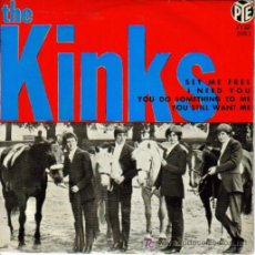 Discos de vinilo: THE KINKS-SET ME FREE + I NEED YOU + YOU DO SOMETHING TO ME + YOU STILL WANT ME EP VINILO 1965 PYE. Lote 3550248