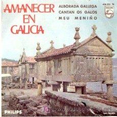 Disques de vinyle: AMANECER EN GALICIA - EP. Lote 25521722