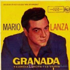 Discos de vinilo: MARIO LANZA ··· GRANADA / VALENCIA / LOLITA / LA DANZA - (EP 45 RPM). Lote 21562199