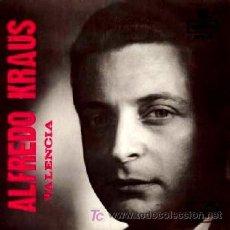 Discos de vinilo: ALFREDO KRAUS ··· VALENCIA / LOS GAVILANES / AMAPOLA / LA PICARA MOLINERA - (EP 45 RPM). Lote 21592850