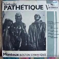 Discos de vinilo: LP-TCHAIKOVSKY-PATETICA - ORQUESTA SINFONICA DE BOSTON. DR., PIERRE MONTEUX. Lote 3650373