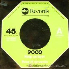 Discos de vinilo: POCO-KEEP ON TRYIN + ROSE OF CIMARRON MAXI SINGLE VINILO 1977 PROMOCONAL SPAIN B-B. Lote 3655250