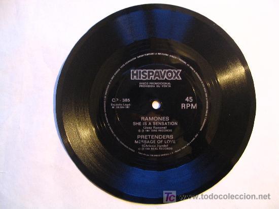 FLEXIDISC : RAMONES / PRETENDERS . HISPAVOX 1981 (Música - Discos de Vinilo - Singles - Pop - Rock Internacional de los 80)