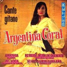 Discos de vinilo: ARGENTINA CORAL ··· MARINGA (+ 3 TEMAS) - (EP 45 RPM). Lote 21683768