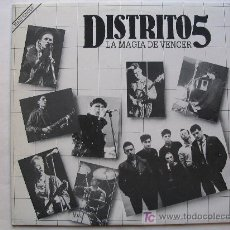 Discos de vinilo: DISTRITO 5 - LA MAGIA DE VENCER . MAXI SINGLE - GIRA 1984. Lote 26313221