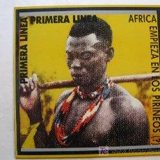 Discos de vinilo: PRIMERA LINEA - AFRICA EMPIEZA EN LOS PIRINEOS - GIRA 1985. Lote 27433213