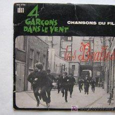 Discos de vinilo: LES BEATLES / CHANSONS DU FILM ` 4 GARÇONS DANS LE VENT ´ - ODEON 1964. Lote 26358772